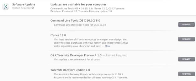 OS X Yosemite Developer Preview 4 1.0