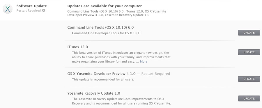 OS X Yosemite Developer Preview 4 1.0