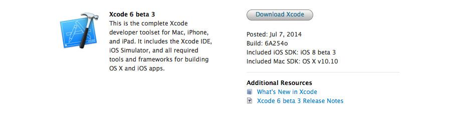 Xcode 6 beta 3