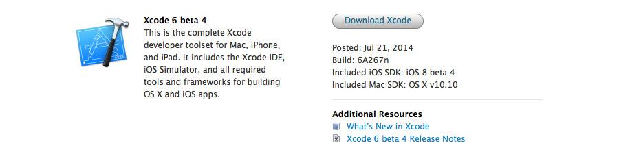 Xcode 6 beta 4