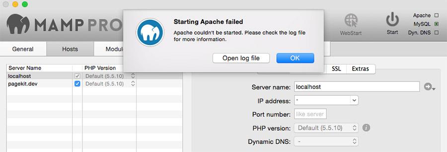 Apache en MAMP