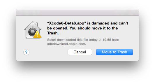 Xcode 6 beta 6
