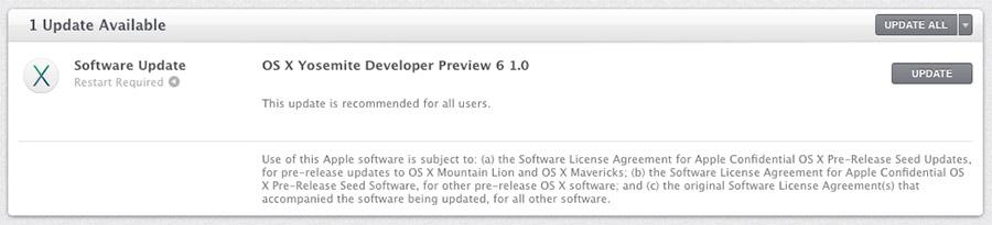 OS X Yosemite Beta 6