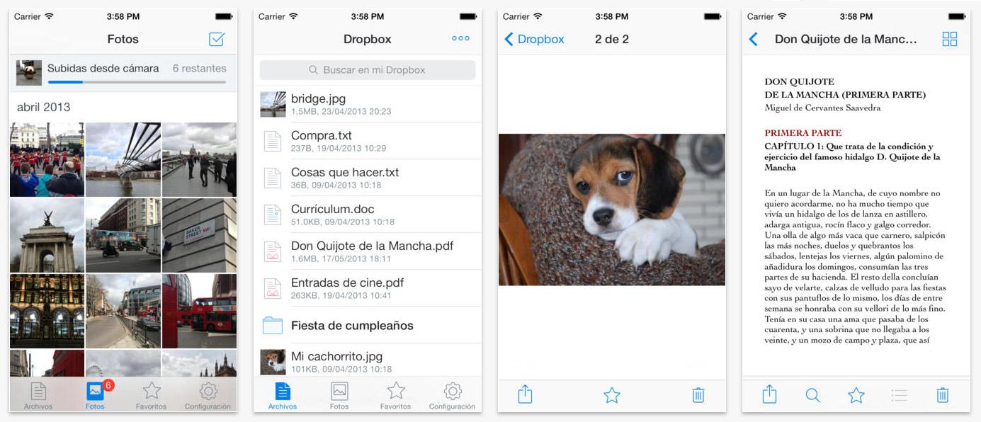 Dropbox para iOS 8