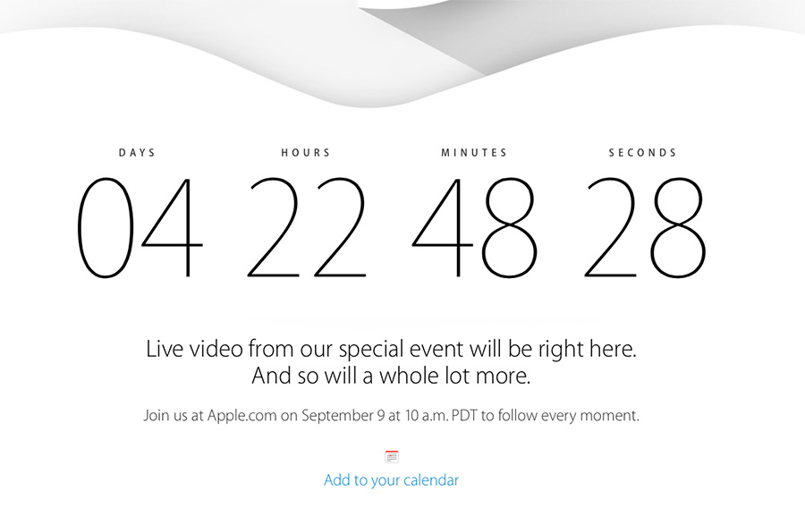 Evento Apple en vivo