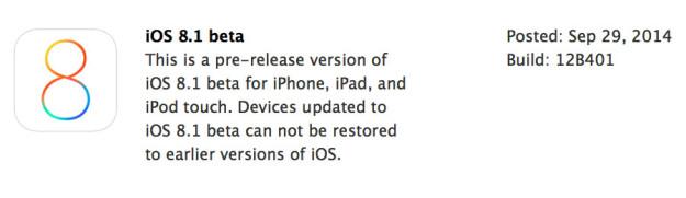 iOS 8.1 beta