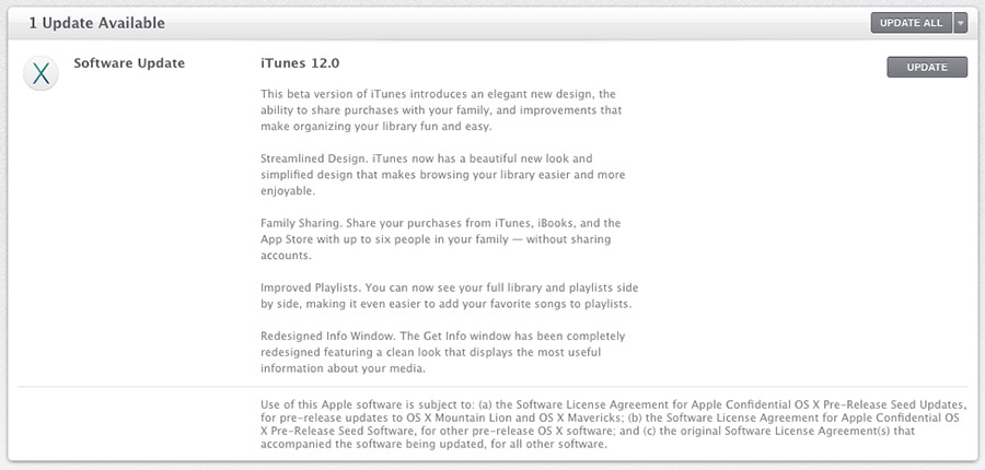 iTunes 12.0 beta 2
