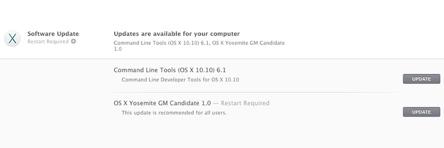 OS X Yosemite Golden Master 1.0