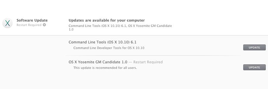 OS X Yosemite Golden Master 1.0