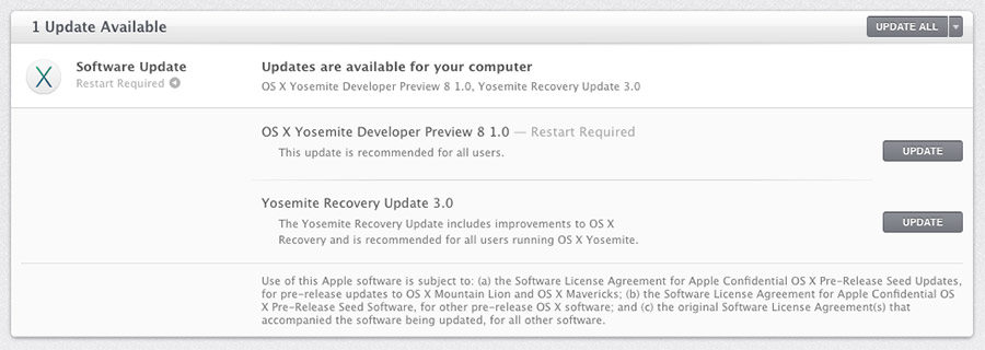 OS X Yosemite Developer Preview 8