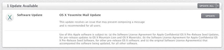 Mail en OS X Yosemite