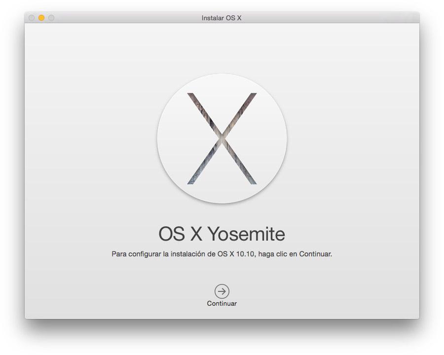 Instalar OS X Yosemite