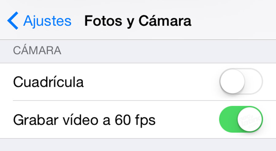 60 fps en iPhone
