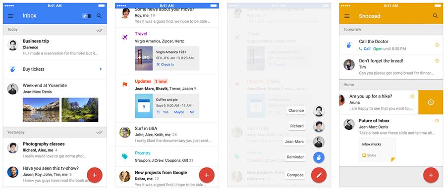 Inbox de Gmail para iPhone