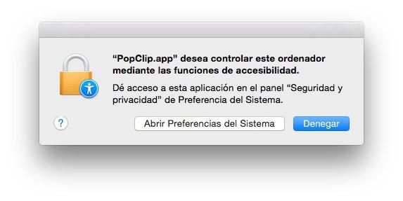 Permisos PopClip