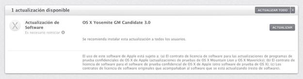 OS X Yosemite Golden Master 3.0