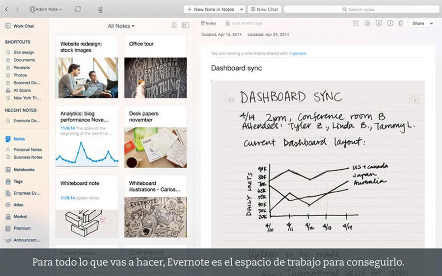 Evernote para OS X