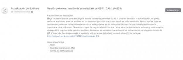 OS X Yosemite 10.10.1 beta 2