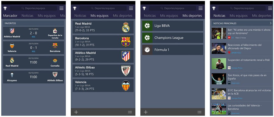 MSN Deportes para iPhone y iPad