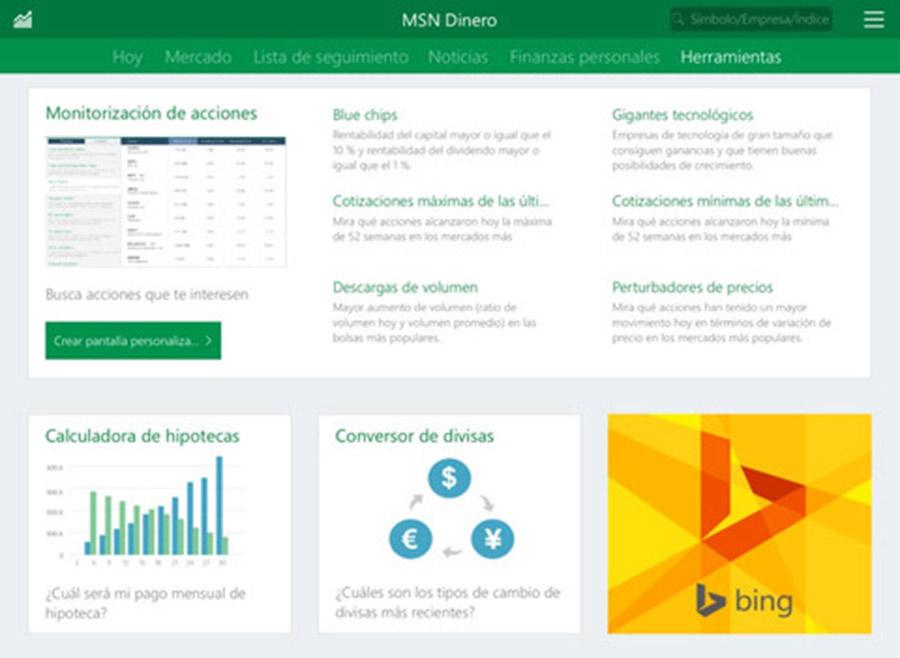 MSN Dinero para iPhone y iPad