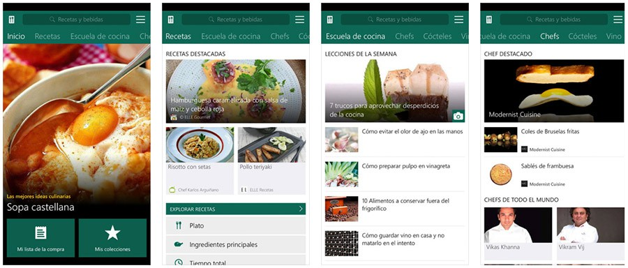 MSN Gourmet para iPhone y iPad