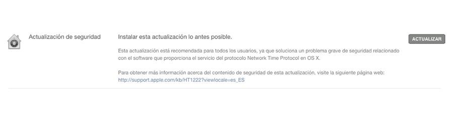 Network Time Protocol para OS X
