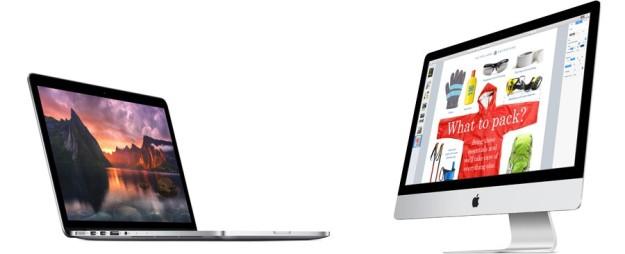 """MacBook Pro 15"""" y iMac 27"""""""