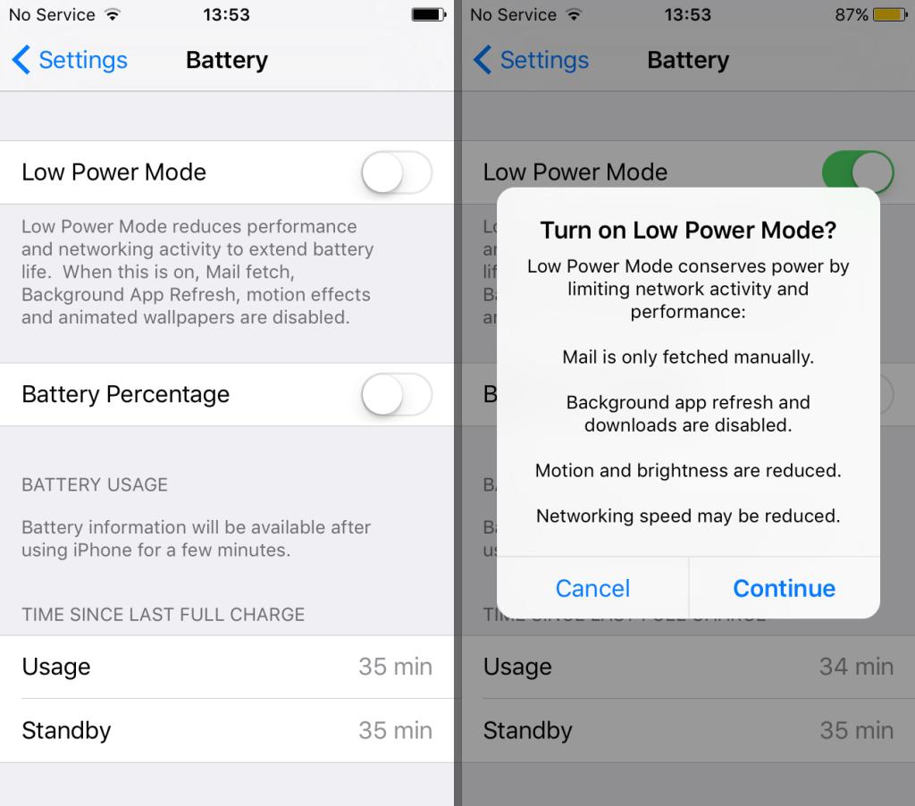 """Modo """"Ahorro energía"""" en iOS 9 1"""