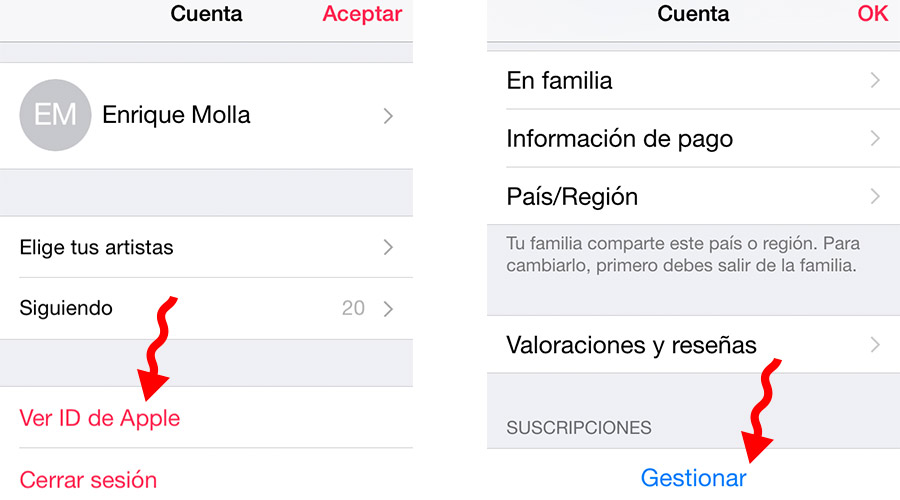 Gestionar Apple Music