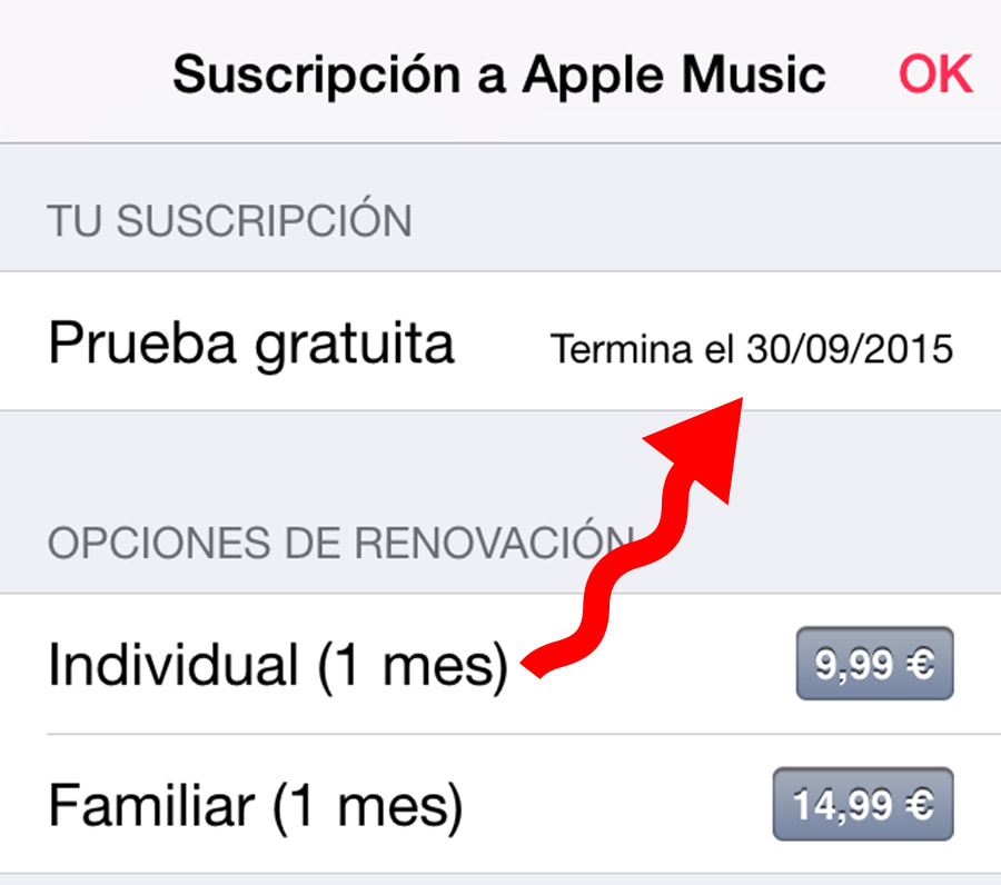 Prueba  Apple Music