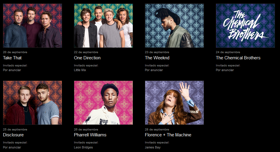 The Chemical Brothers, The Weeknd y Take That llegan al cartel del Apple Music Festival 1
