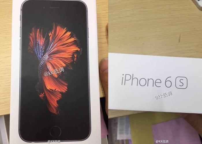 Se filtran las imágenes del embalaje del iPhone 6s 1
