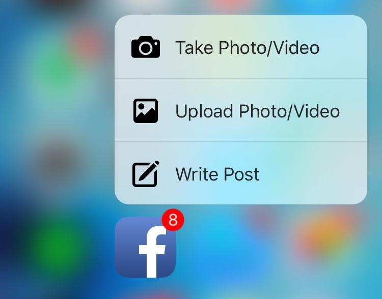 Facebook ya es compatible con 3D Touch 1