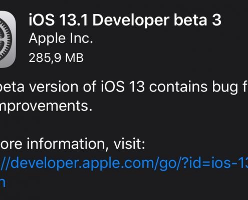 iOS 13.1 Beta 3