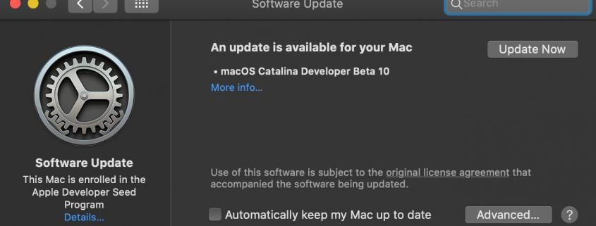 macOS Catalina Beta 10