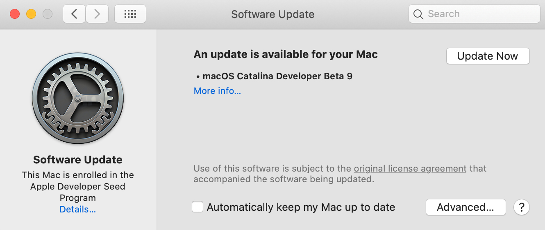 macOS Catalina Beta 9