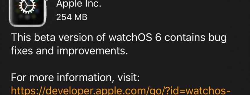 watchOS 6.1 para Desarrolladores