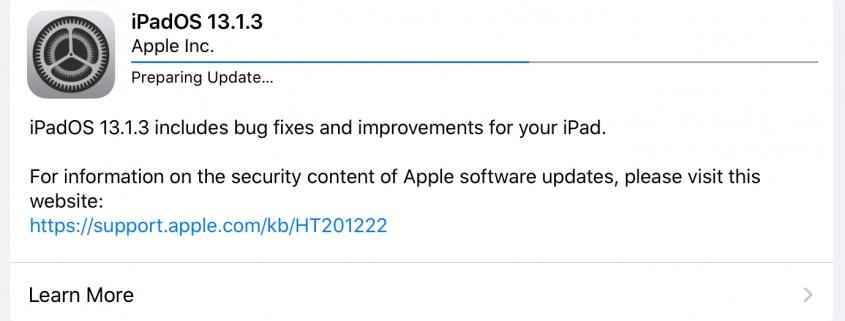 iPadOS 13.1.3