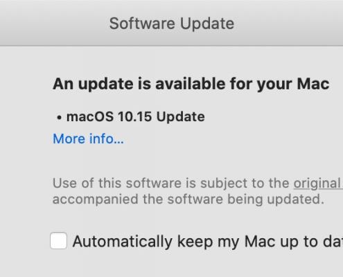 macOS Catalina 10.15 actualización complementaria