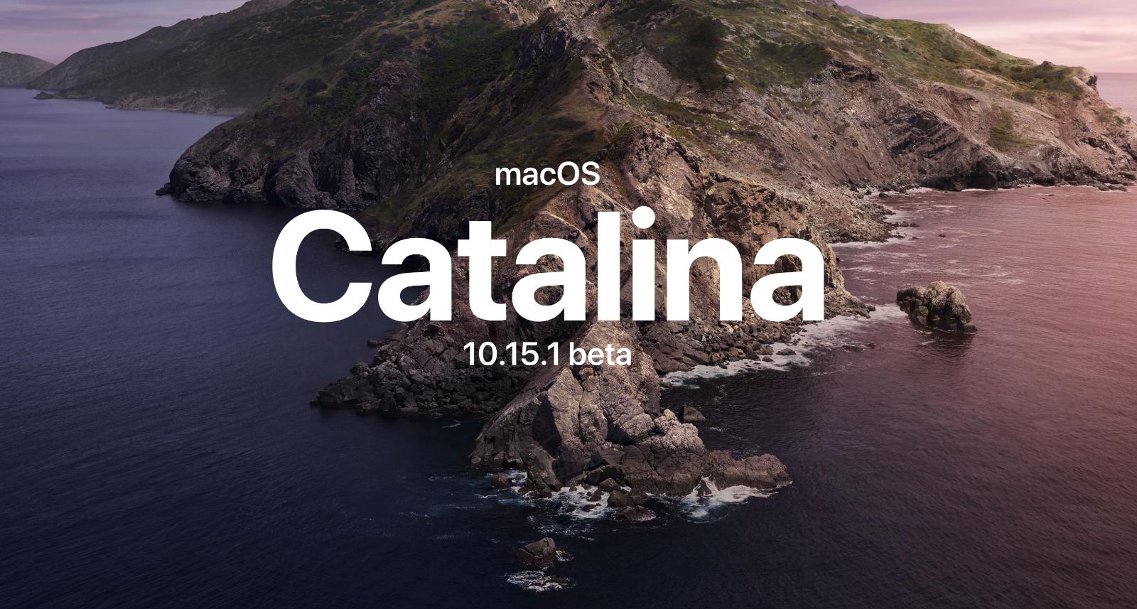 macOS Catalina 10.15.1 beta