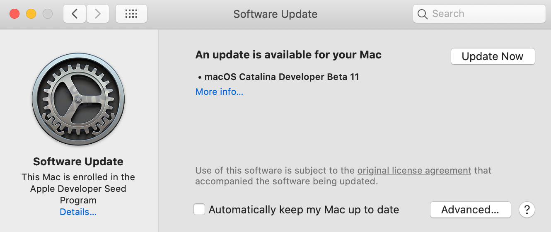 macOS Catalina Beta 11