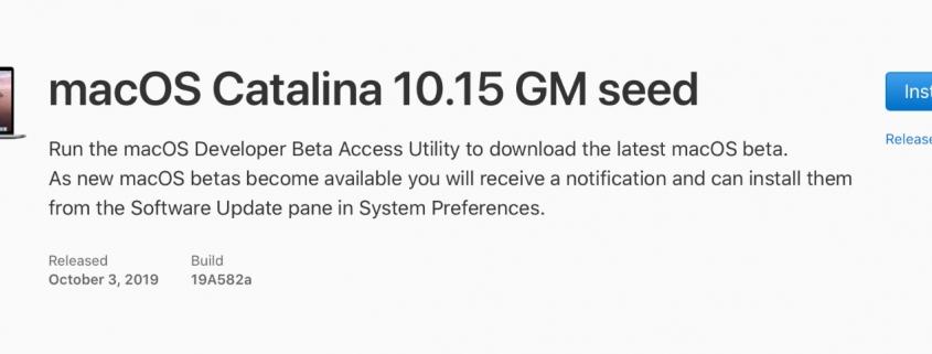 macOS Catalina 10.15 GM