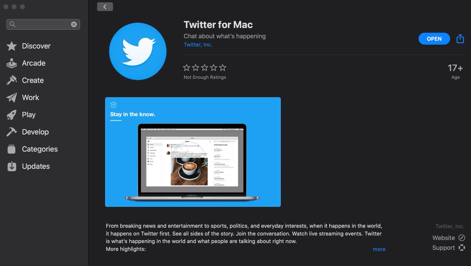 Twitter para Mac 1