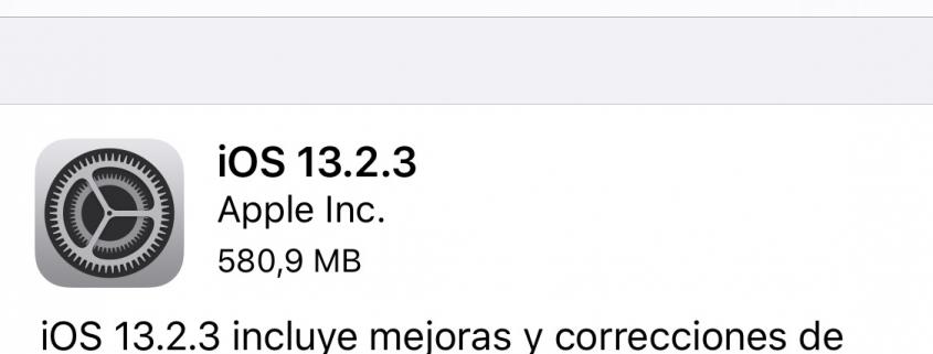 iOS 13.2.3 y iPadOS 13.2.3 1