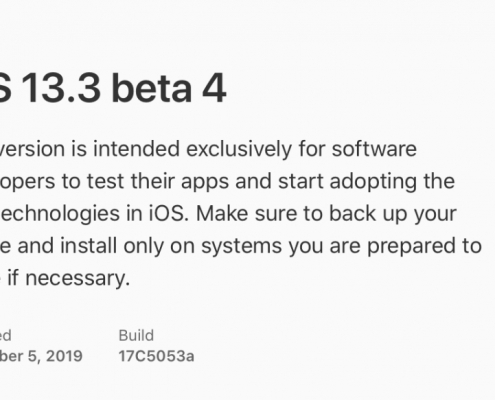 iOS 13.3 beta 4, iPadOS 13.3 beta 4, watchOS 6.1.1 beta 4 y tvOS 13.3 beta 4