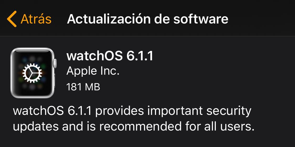 watchOS 6.1.1