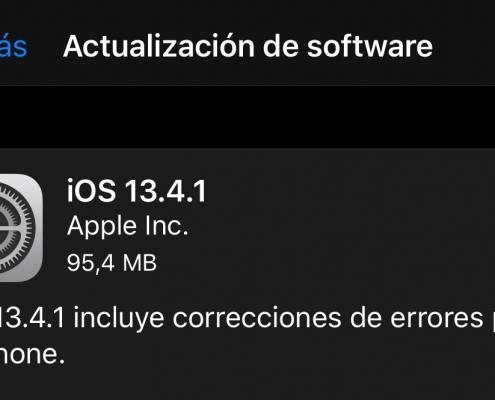 iOS 13.4.1 y iPadOS 13.4.1