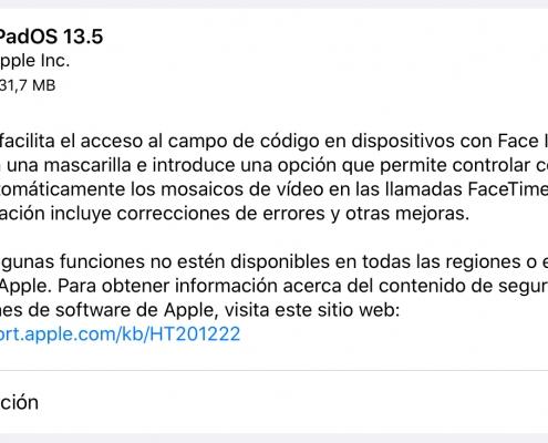 iPadOS 13.5